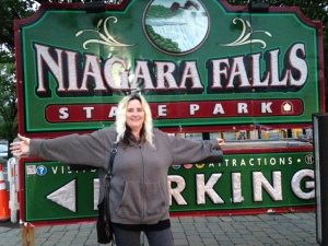 lisa in front of sign