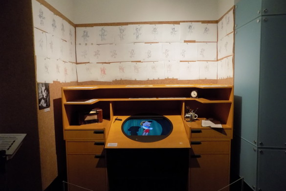 Walt Disney's desk. So cool to imagine him drawing here.